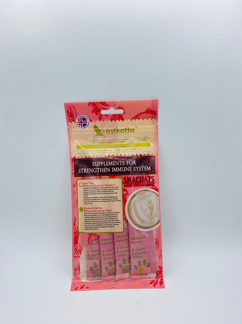 Astkatta Snackats Chicken & Salmon 三文魚雞營養醬