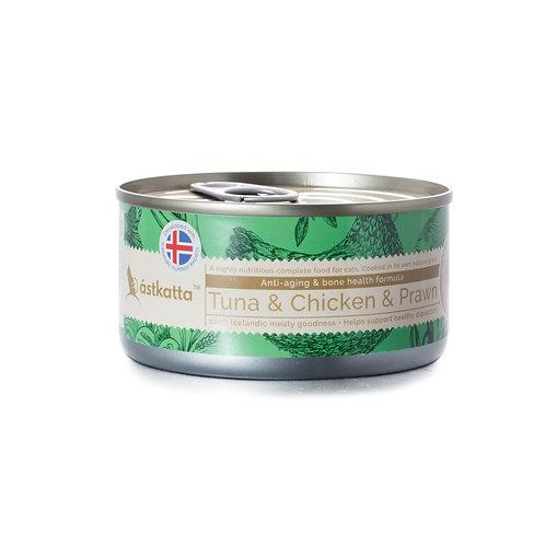 Astkatta Tuna & Chicken & Prawn 白鰹吞拿雞肉白蝦主食罐 170g x 48罐