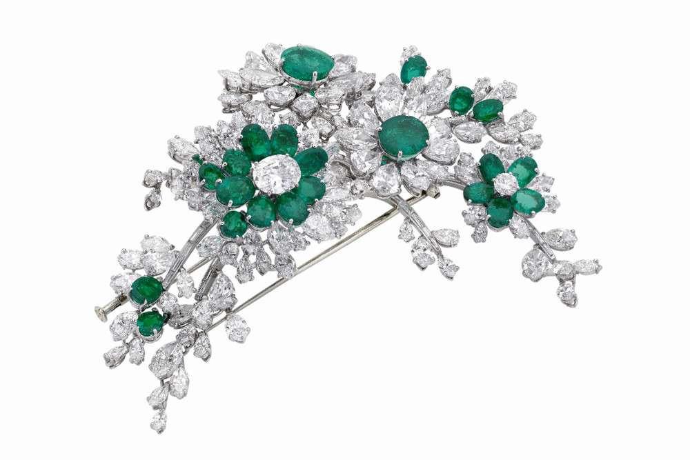 Broche de esmeraldas de Elizabeth Taylor