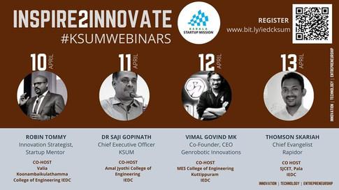 Inspire 2 Innovate Webinar Series speaker