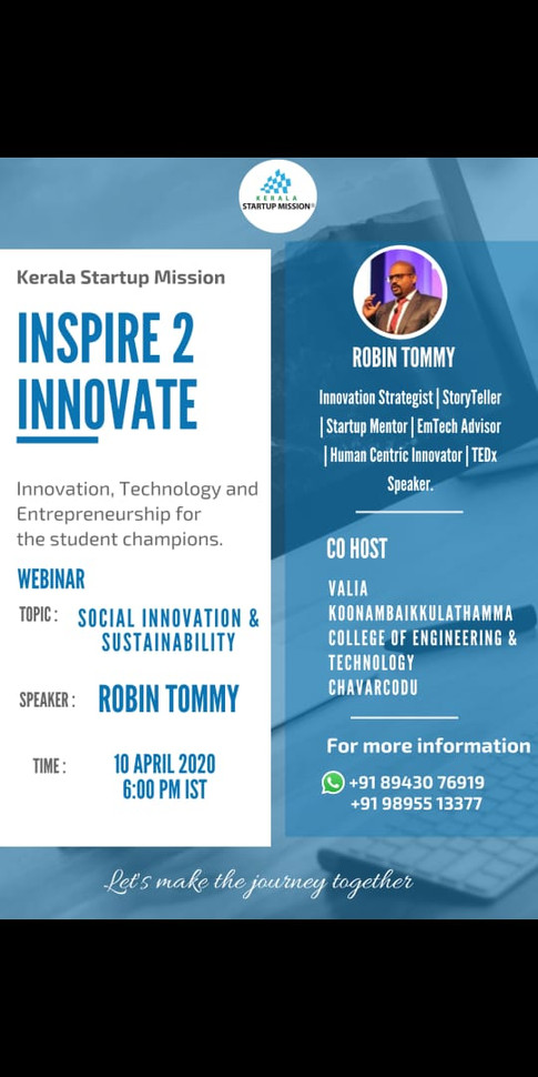 Inspire to Innovate Series during the lockdown