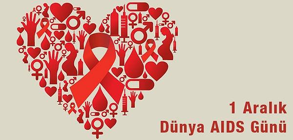 1 Aralık dünya aids farkındalık günü