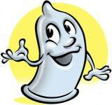 şirin bir prezervatif (kondom) görüntüsü
