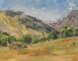 Plein aire painting in Wyoming