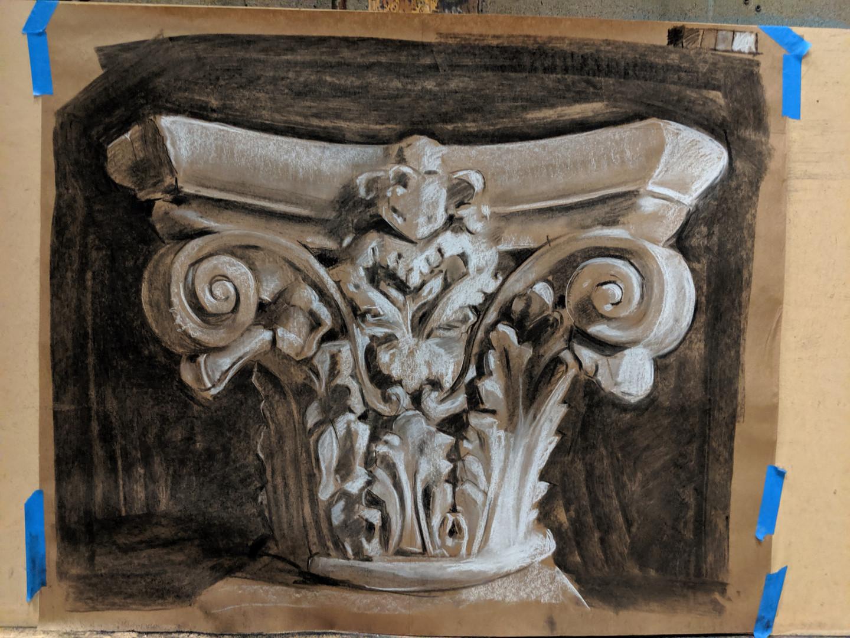 Column capital drawing