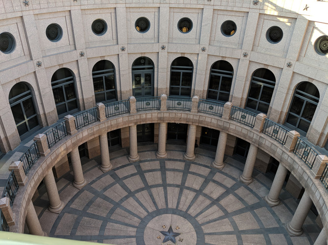 For research we visited the Texas capitol building to make measurements