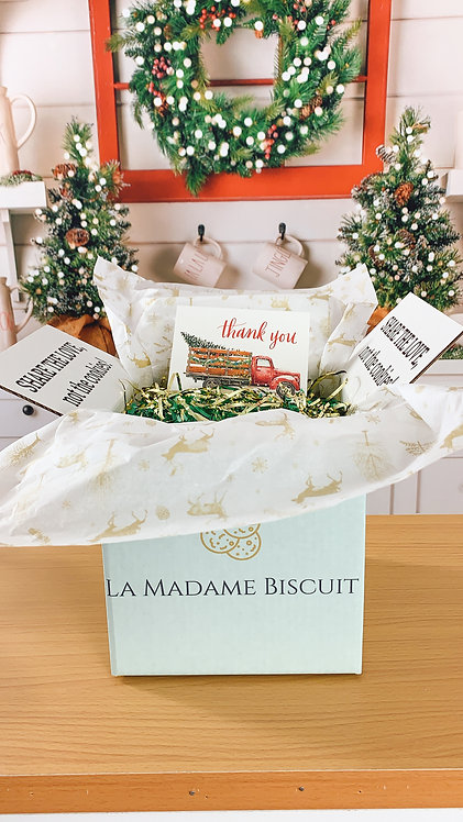Gift Box fits 18 to 30 cookies & includes Gift Card