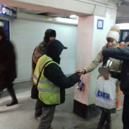 В воскресенье 22 января активисты Вознесенского храма посетили бездомных и принесли им горячие обеды