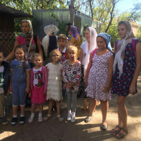Воспитанники воскресной школы Вознесенского храма совершили паломническую поездку в посёлок Петровку