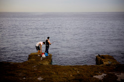 Fishing on Malecon