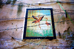 Flamingo Mosaic and Wires