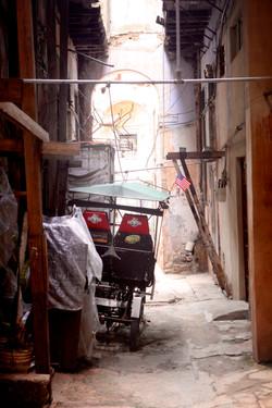 Pedi-Cab in Alley