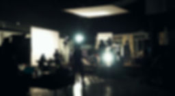 Blurry image of making movie video in bi
