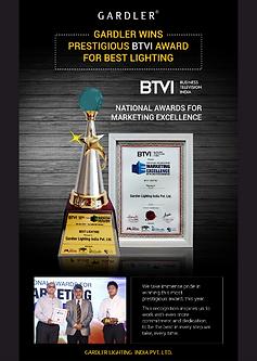 Gardler Lighting BTVI Award