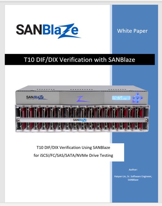 T10 DIF-DIX Verification White Paper