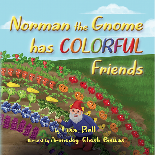 Norman the Gnome has Colorful Friends