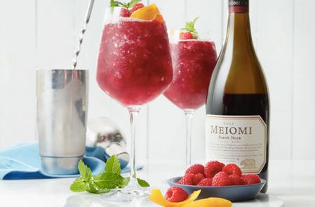 Raspberry Wine Cobbler