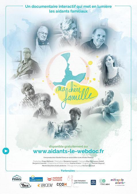 Affiche documentaire aidants familiaux Ma chère famille