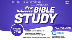 NEW BELIEVER BIBLE STUDY flyer