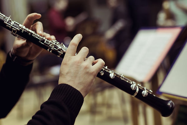 Human hands playing the oboe .jpg