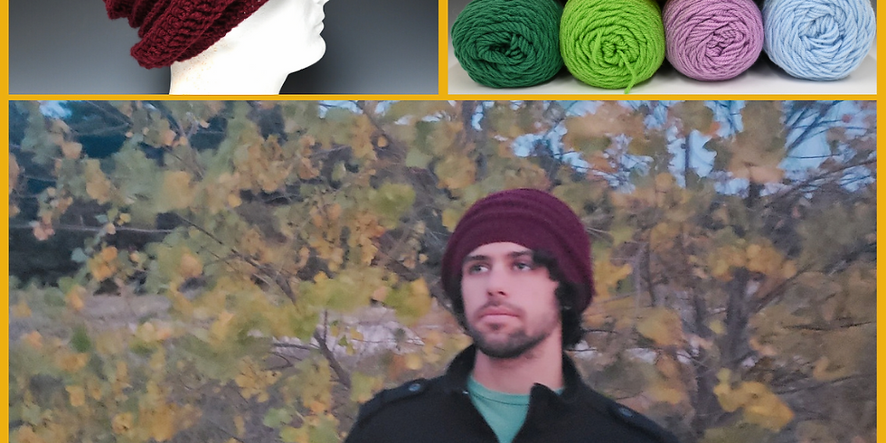 Intro to Crochet: Textured Slouch Hat