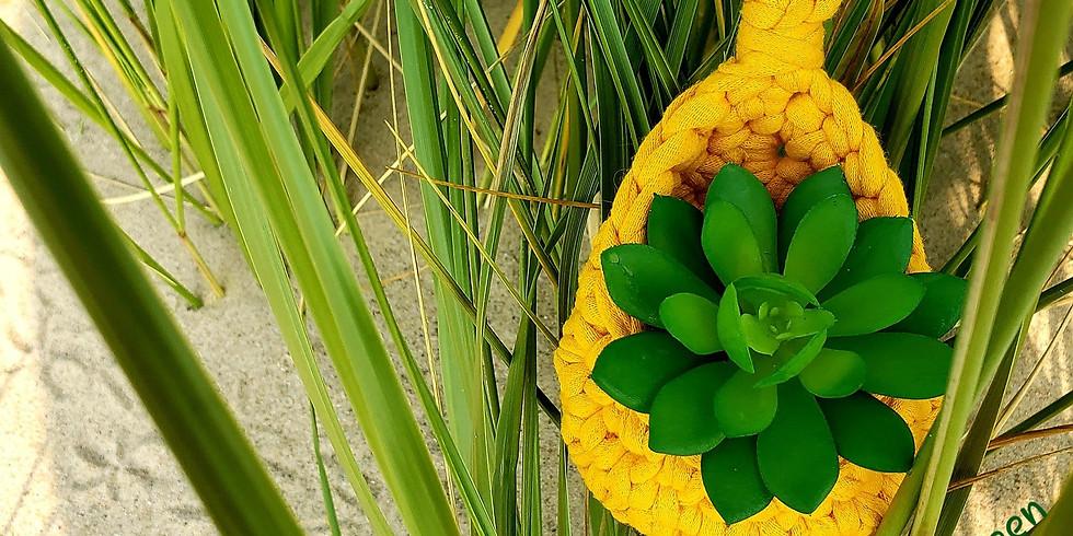 Recycled Finger Crochet: Succulent Hanger