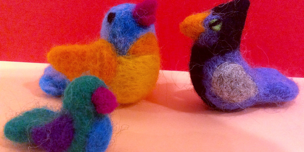 A Bird in the Hand: Needle Felted Birds