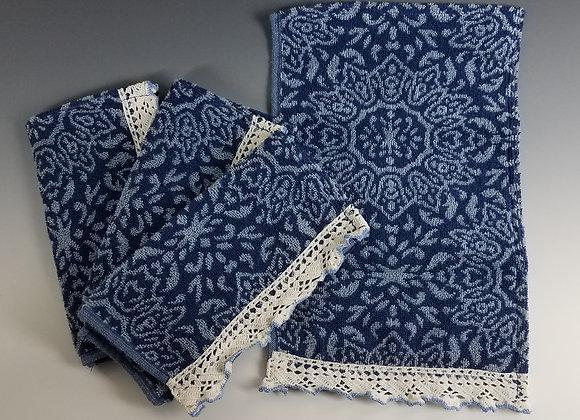 Carol Schrand - Blue Pattern Hand Towels
