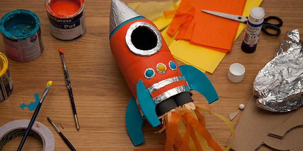 SOLD OUT: Summer Art Camp: Outer Space Paper Mâché Sculptures