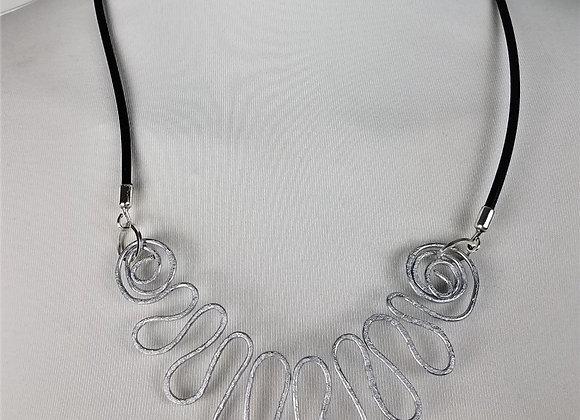 Ann Burroughs - Aluminum Wave Necklace