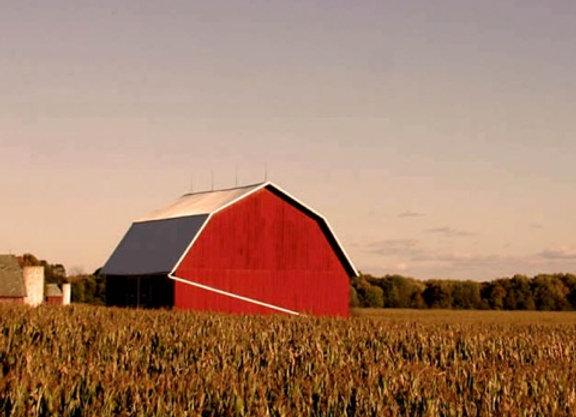Barn Landscape Painting Kit
