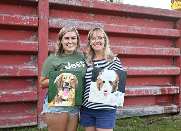 """12"""" x 12"""" Pet Portrait Painting Kit"""
