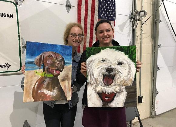 """16"""" x 20"""" Pet Portrait Painting Kit"""