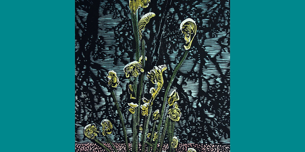 Linocut Relief Printmaking and Chine Collé