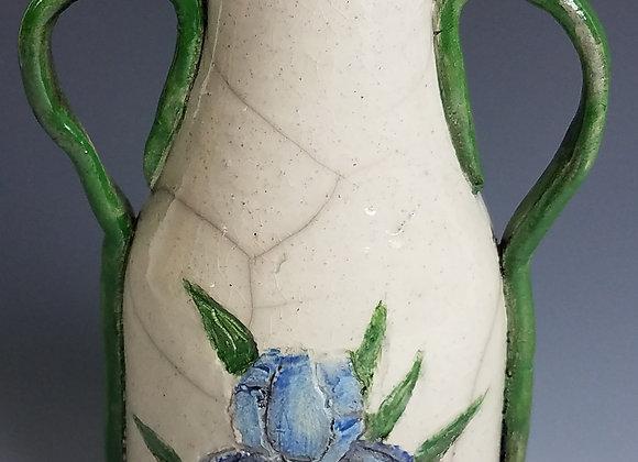 Neven Allen - Raku Iris Vase