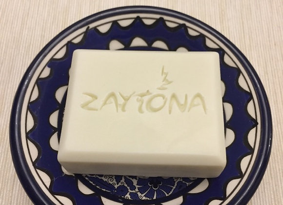 Olive Oil Soap with Ceramic Hand made Plate from Jerusalem