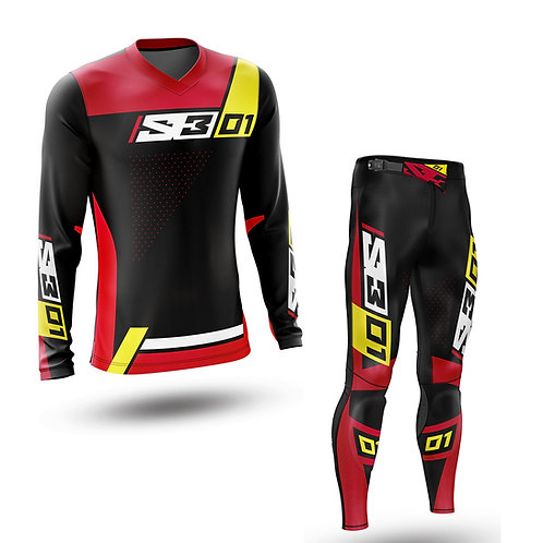 S3 TRIALS KIT - BLACK/RED/YELLOW