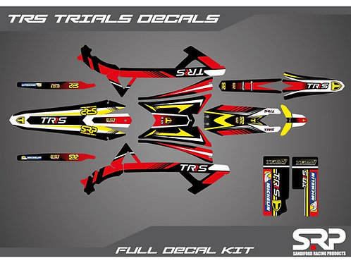 SRP TRS TRIALS DECAL / STICKER KIT 125-300CC 2016-2020