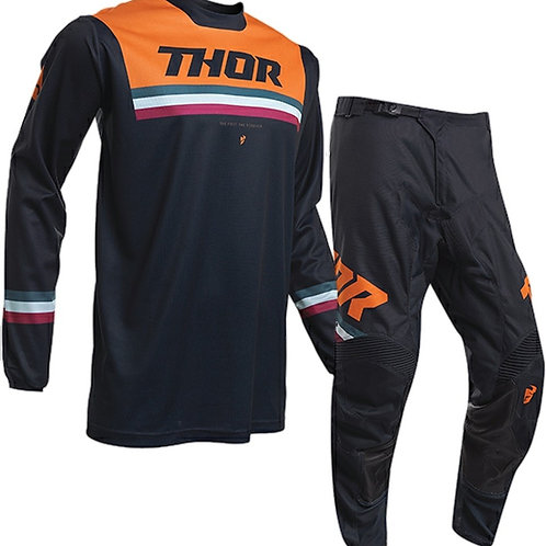 2020 Thor MX Pulse PINNER - Orange/Blue