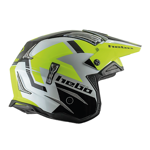 HEBO ZONE 4 BALANCE HELMET - WHITE/BLACK/YELLOW