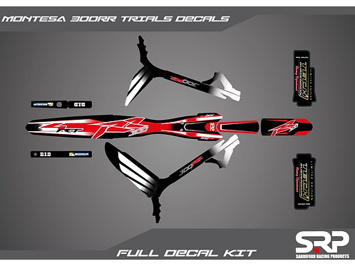 SRP MONTESA COTA 300RR TRIALS DECAL / STICKER KIT 2017-2019