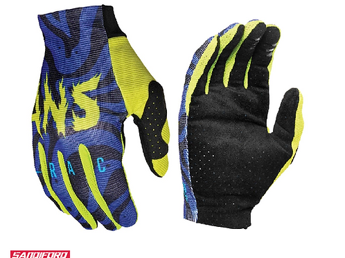 2021 ANSWER AR2 MUTEON GLOVES - BLUE/ACID/BLACK