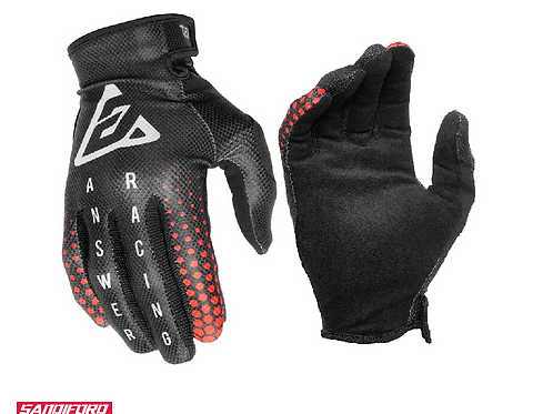 2021 ANSWER (YOUTH) AR1 SWISH GLOVES - BLACK/RED/SILVER