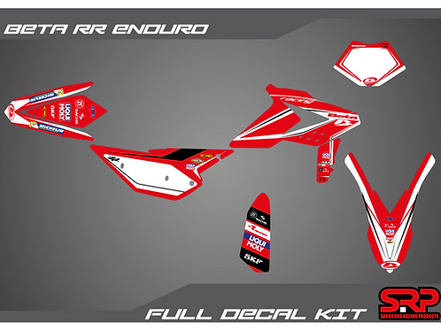 SRP BETA RR ENDURO 2013-2017 DECAL / STICKER KIT 125-300 2T 350-480 4T