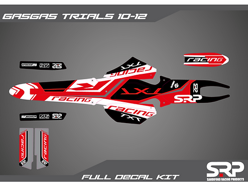 SRP GAS GAS TXT PRO 10-12 TRIALS DECAL / STICKER KIT 125-300CC