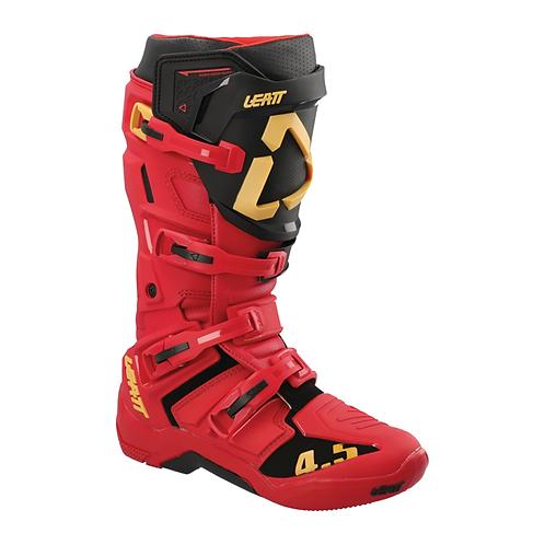 LEATT 4.5 MX BOOTS - RED/BLACK