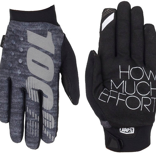 100% BRISKER WINTER GLOVES - HEATHER GREY