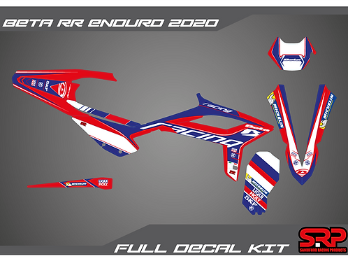 SRP BETA RR ENDURO 2020-2021 DECAL / STICKER KIT 125-300 2T 350-480 4T