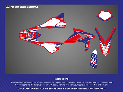 SRP BETA RR ENDURO 2018-2019 DECAL / STICKER KIT 125-300 2T 350-480 4T