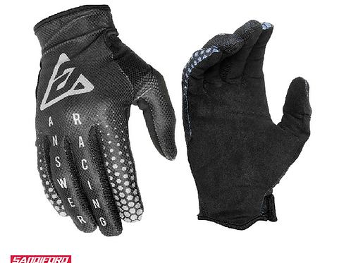 2021 ANSWER AR1 SWISH GLOVES - BLACK/GREY/CHARCOAL